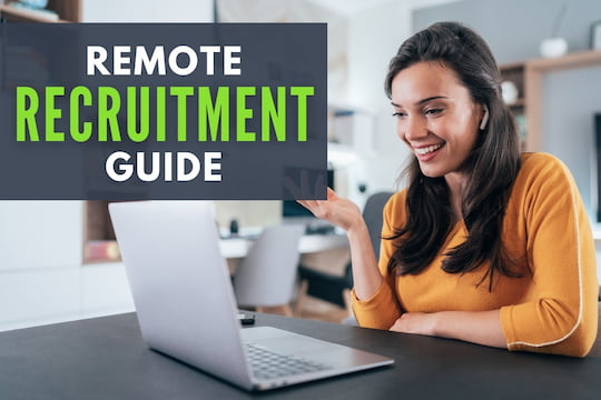 Woman doing a remote interview - Remote Recruitment Guide
