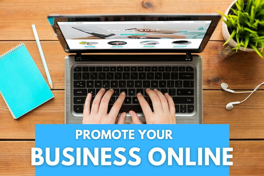 Person using a laptop - Promote Your Business Online