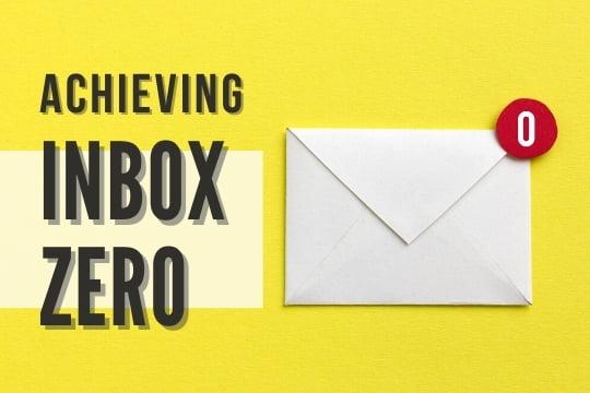 Achieving Inbox Zero - Letter with a zero sign