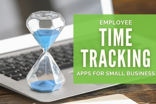 Employee Time Tracking Apps for Small Business - Sand clock on top of a laptop