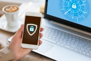Laptop and mobile protected with cybersecurity