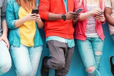 Group of people looking at new trends