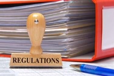 Regulations seal and paperwork
