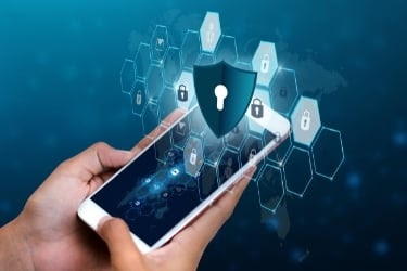 Cybersecurity in a mobile phone