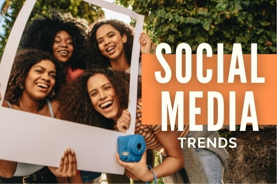 Social Media Trends - Women taking a picture