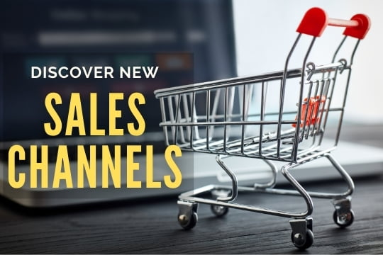 Discover New Sales Channels - Shopping cart next to a laptop