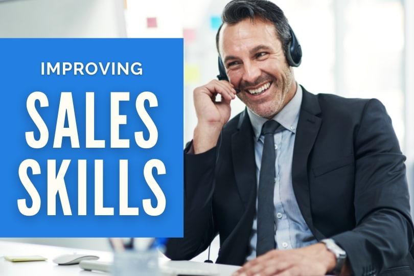 Improving Sales Skills - Salesman on a phone call