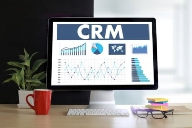 CRM system in a computer