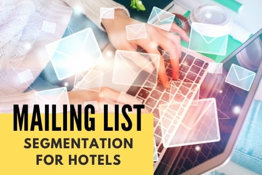 Mailing List Segmentation for Hotels - Laptop with a lot of letters
