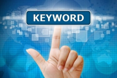 """Fingers pointing at a word called """"keyword"""""""