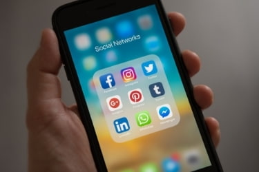 Mobile Phone with Social Networks Apps