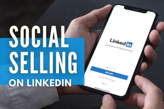 Social Selling on Linkedin - Linkedin splash screen on mobile phone