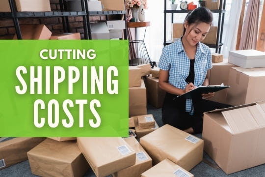 Cutting Shipping Costs - Woman with a lot of boxes