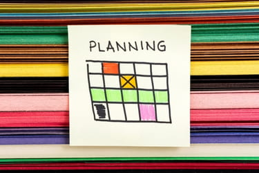 Planning concept with a schedule