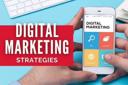 Digital Marketing Strategies - Hands with a mobile phone