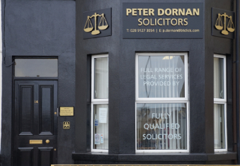 Peter Dornan & Co. Belfast front door