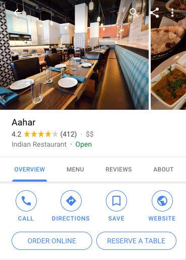 local seo for restaurants google listing