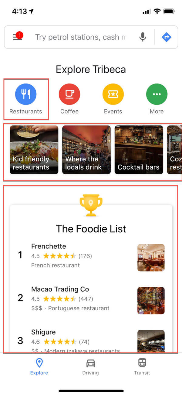 google my business for restaurants foodie list