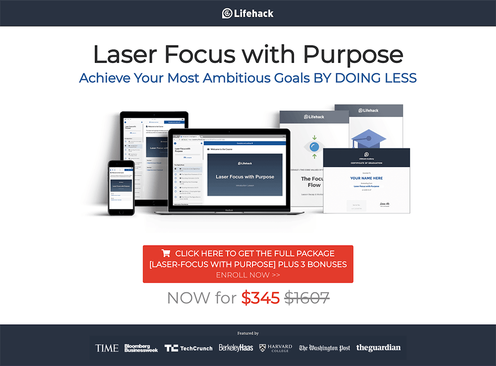 Laser Foucs with Purpose Course