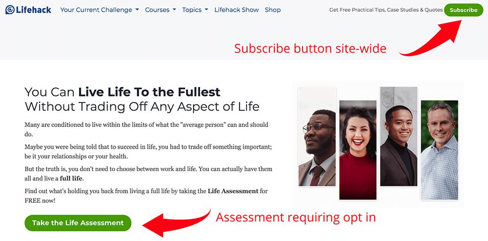 Free life assessment