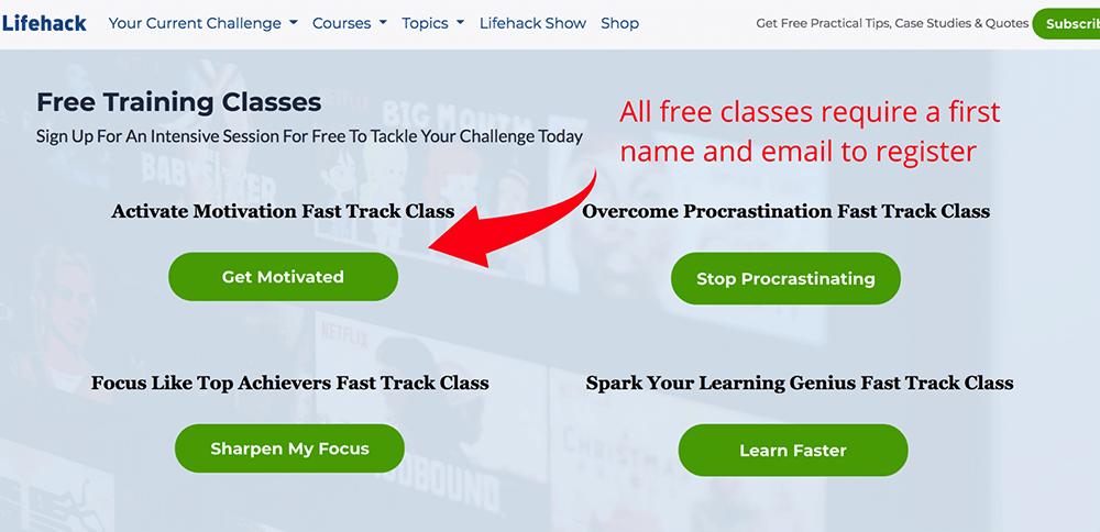 Free training classes