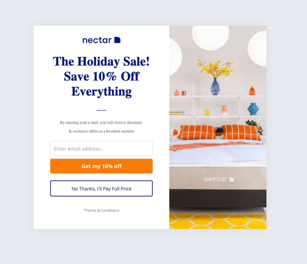 Holiday Sale popup