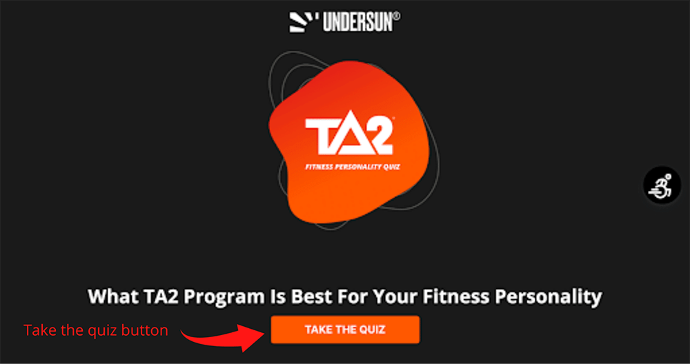 Quiz landing page home step