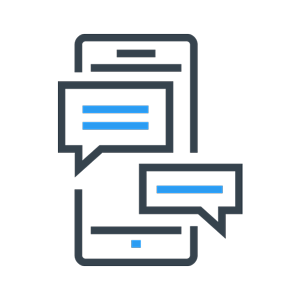 phone with messages icon