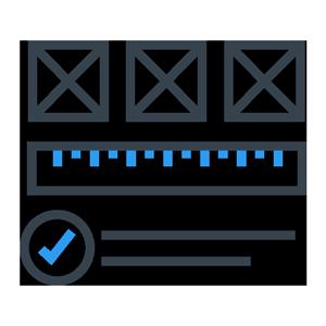 ruler checkmark and box icons
