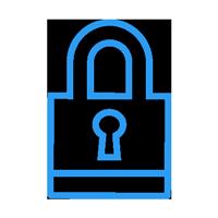 retain lock icon
