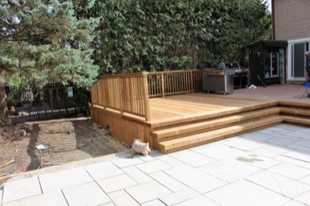 Wooden deck A.D. Holmes in Vaughan