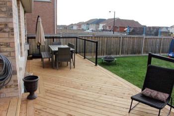 Wooden deck A.D. Holmes