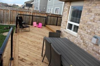 Wooden deck A.D. Holmes Ltd