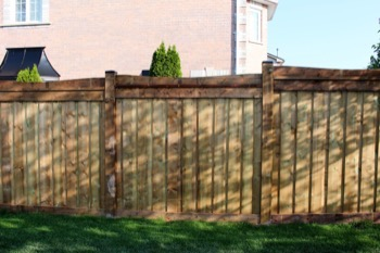 Wood fence in Pickering