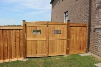 Wood fence and gate