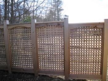 see through wooden deck
