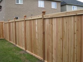basic wooden fence