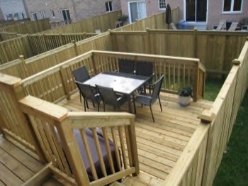 deck built in a tight space