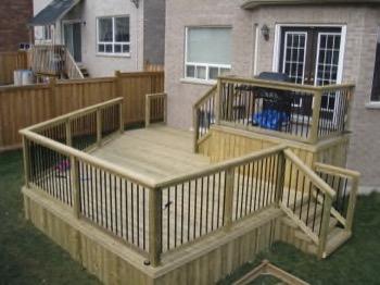 two level simple backyard deck