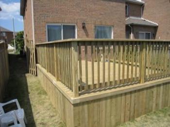 long backyard deck