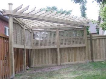 partial backyard enclosure