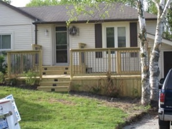 deck with grade
