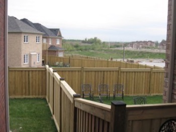 Solid wooden fence