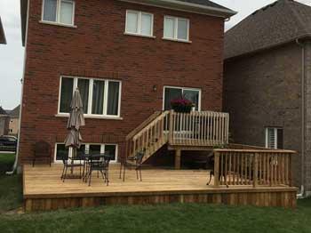 wood deck low profile