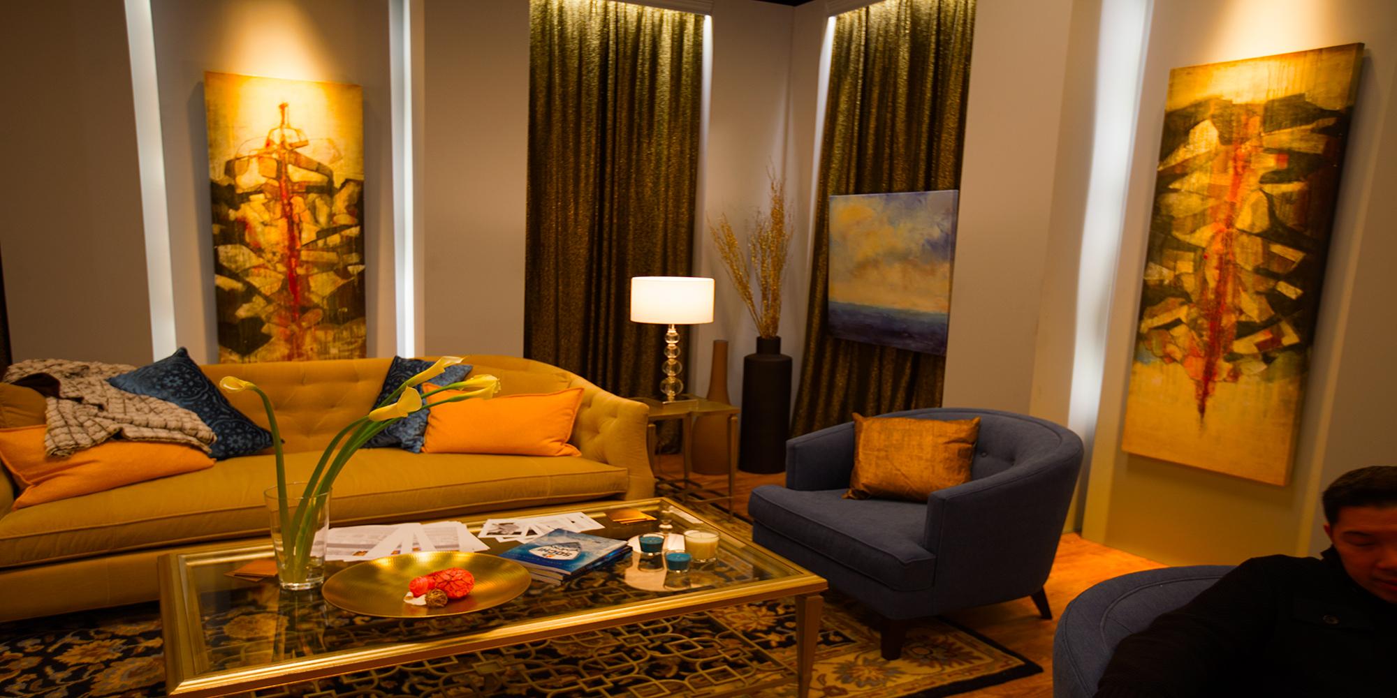 Dressing room set built on stage New York
