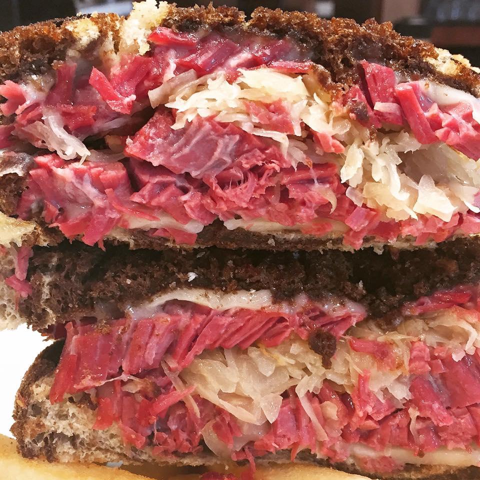 Classic Reuben Sandwich at Bavarian Beirhaus