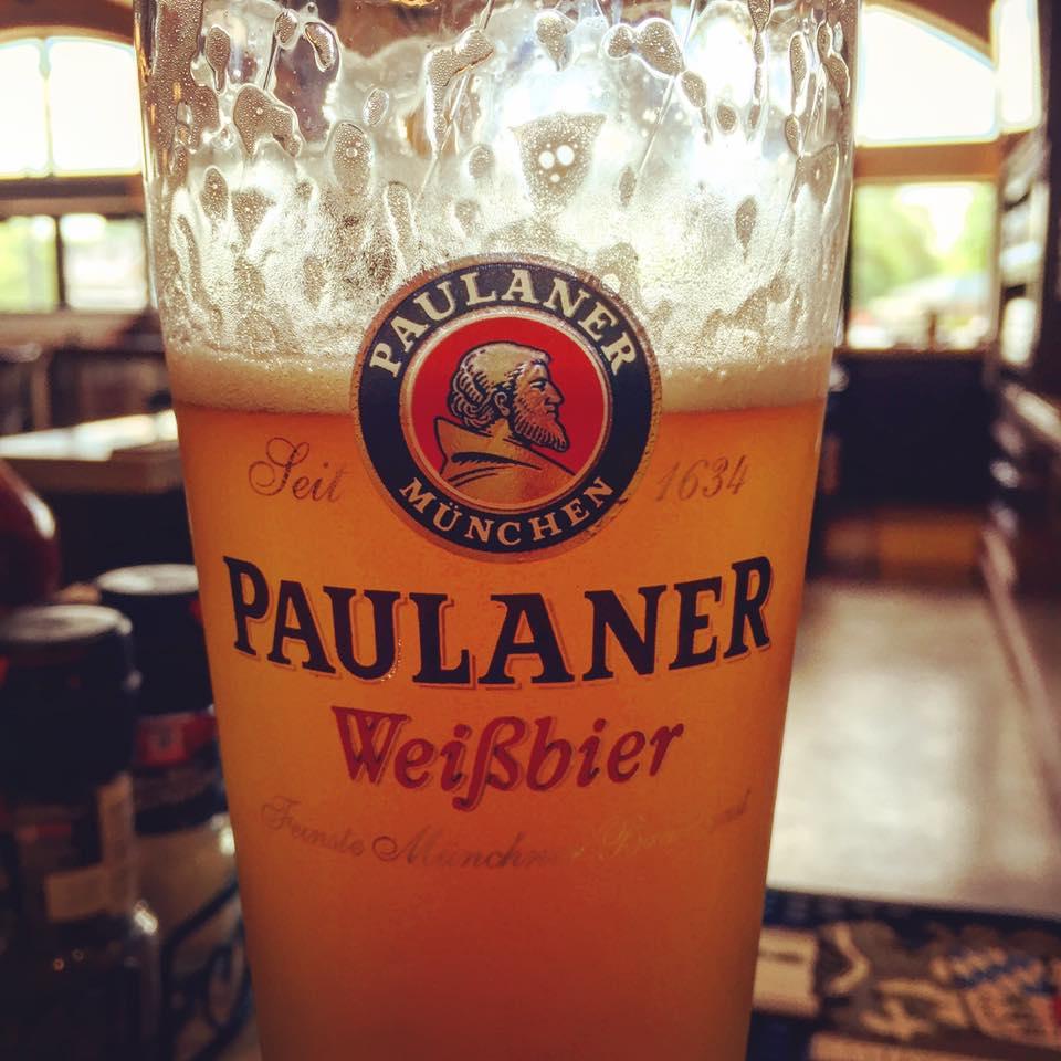 Paulaner Hefeweizen at Bavarian Bierhaus