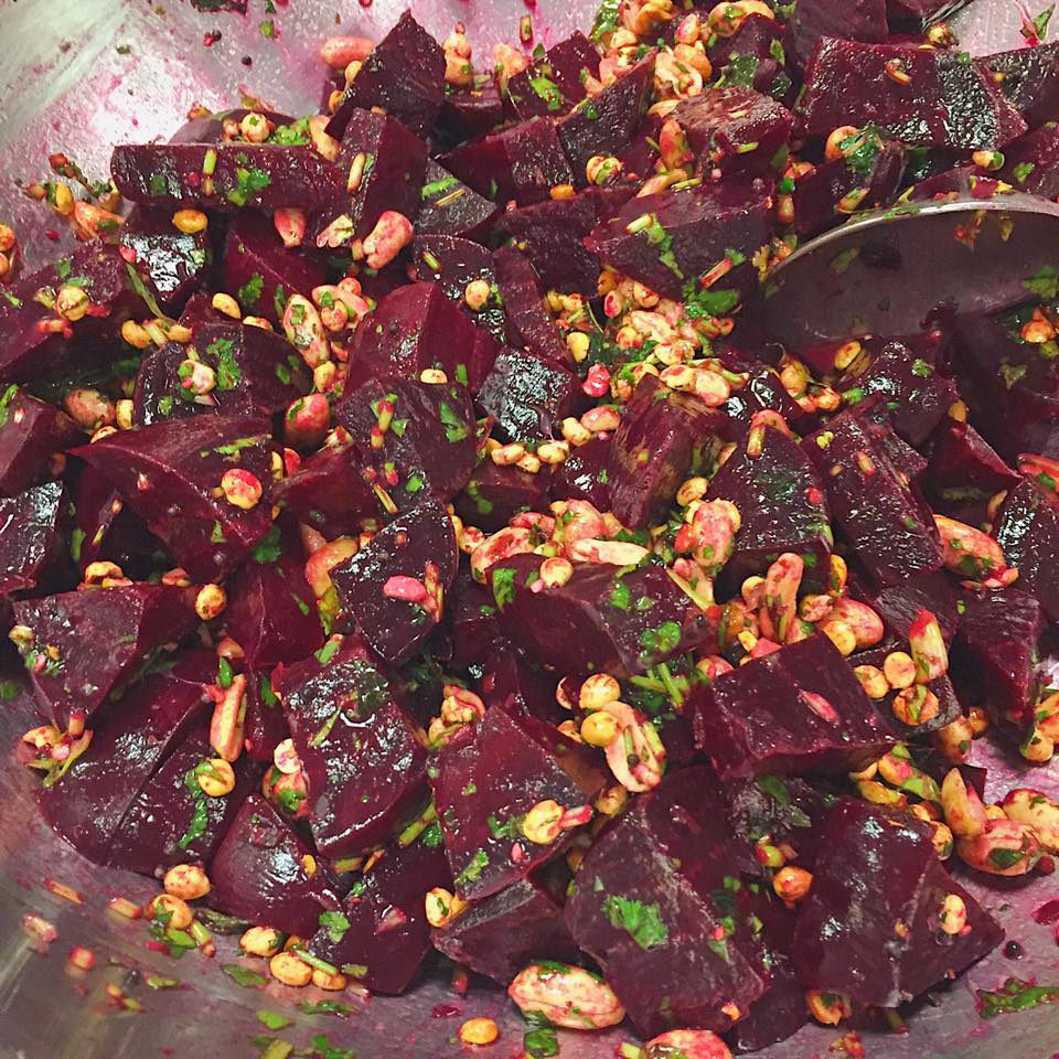Beetroot Curry Salad prepped