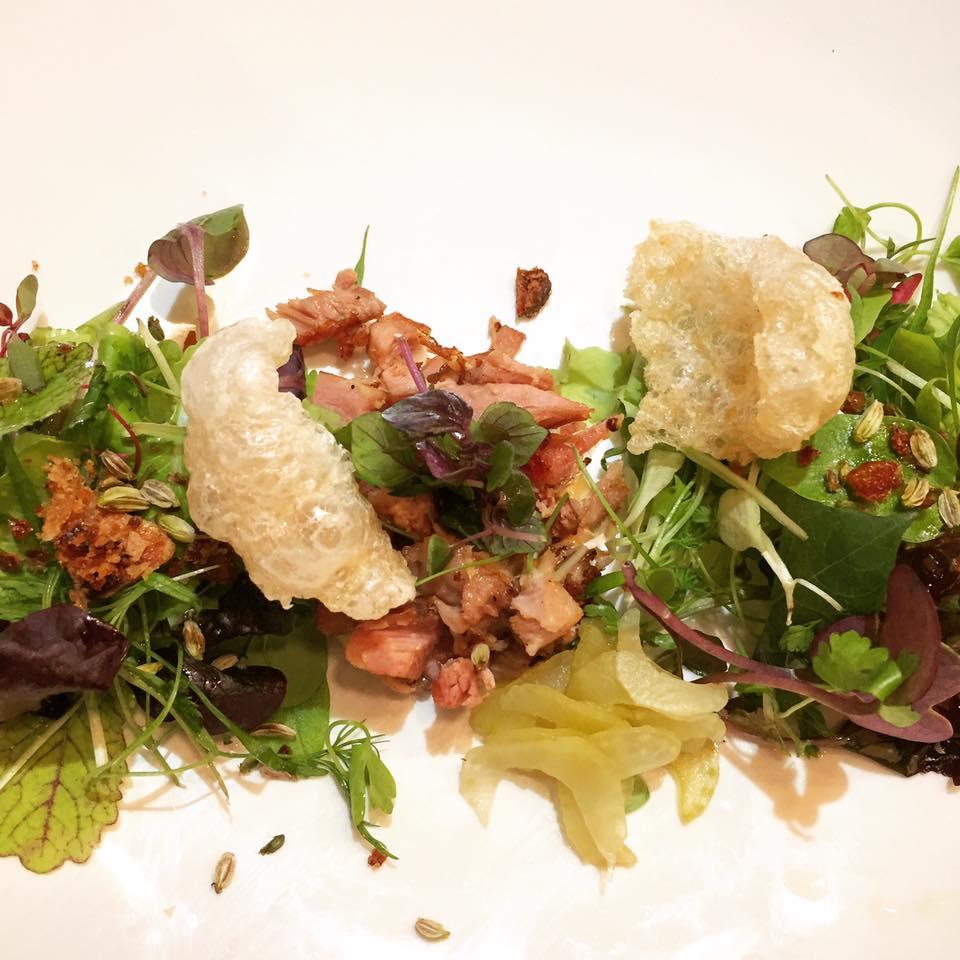 Baby Green Salad - Crunchy Skin / Crispy Pork / Horseradish / Pickled Celery