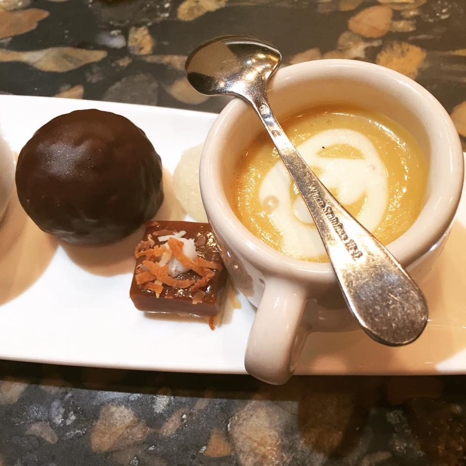 Four course dessert plate